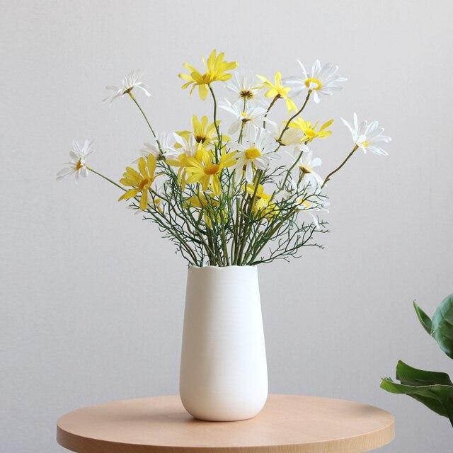 67inch modern wave design vase white porcelain flower vase 67inch modern wave design vase white porcelain flower vase decorative tabletop ornaments for home decor mightylinksfo