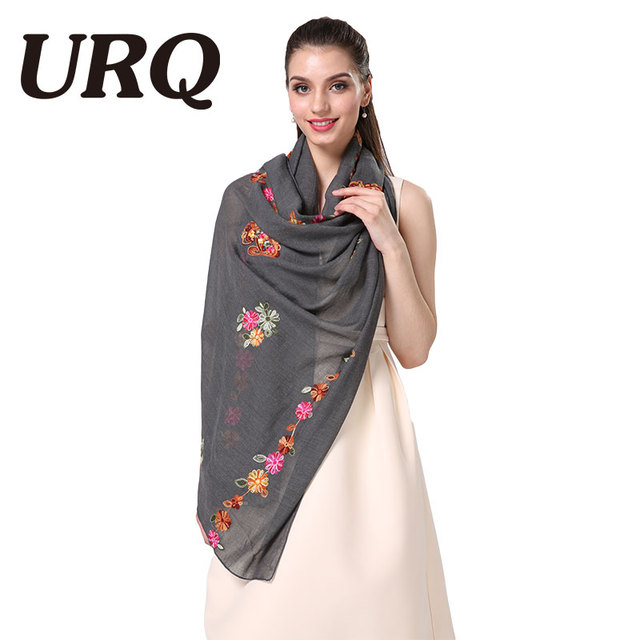 lady foulard embroidered scarf shawl for women from india shawl scarves winter pashmina cotton voile scarf luxury brand 2016new