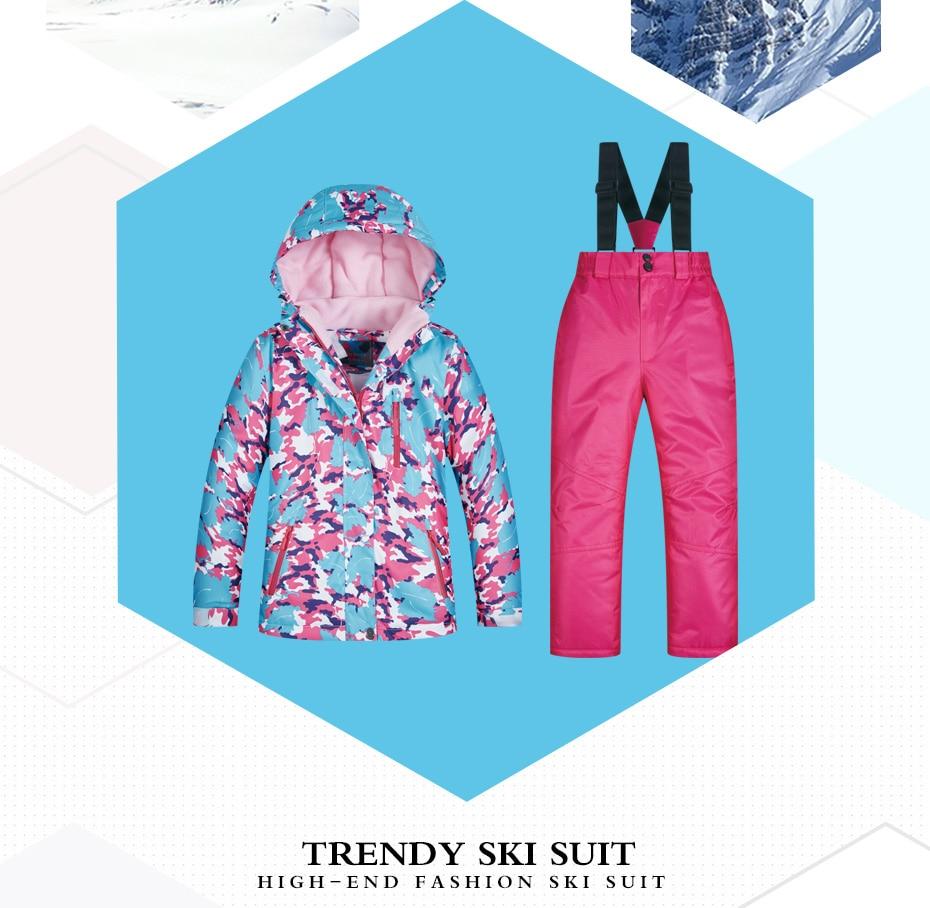 儿童滑雪服套装模板_03
