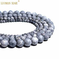 Wholesale Natural Dull Polish Map Jaspers Matte Stone Beads For Jewelry Making DIY Bracelet Necklace 4/6/8/10 mm Strand 15''