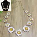 1PC Hot fashion candy color acrylic daisy necklace Yellow flower choker neclace for women party Jewelry  JW02118