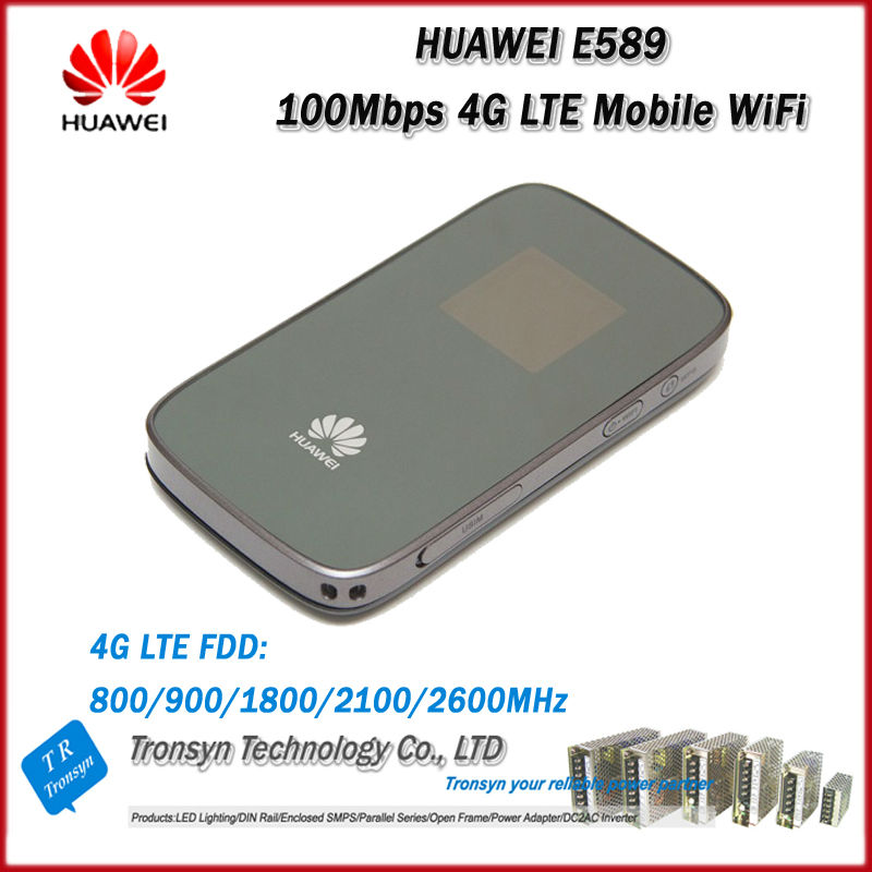 Wholesale Original Unlock LTE FDD 100Mbps HUAWEI E589 Portable 4G Wireless Router With Sim Card Slot original unlock lte fdd 150mbps huawei e5377 e5377bs 605 4g lte sim card wireless modem router