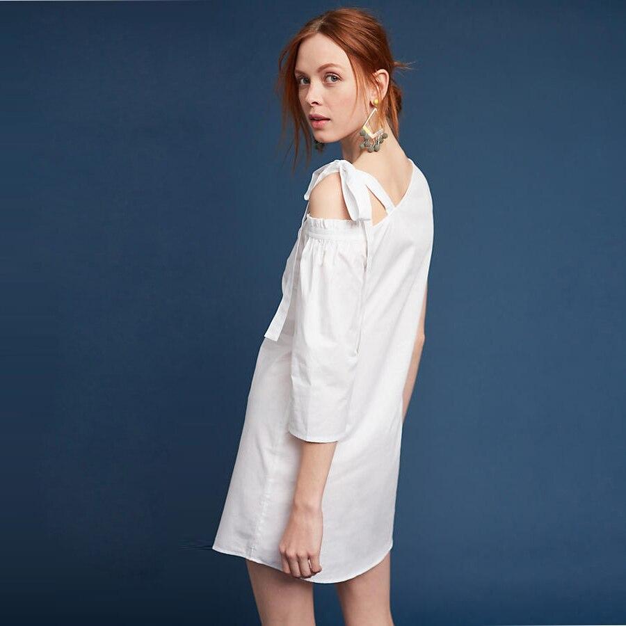 Casual Summer Dress Women 2017 Plus Size White Bandage Dress Off