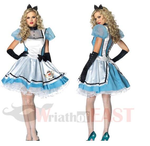 Halloween Maid Costumes Womens Adult Alice In Wonderland Costume