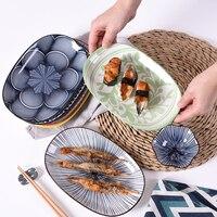 10 cal eliptyczne naczynia ceramiczne japoński styl kreatywny jednolity kolor geometria czysty kolor nakładka stykowa obiad zestaw talerzy w Naczynia i talerze od Dom i ogród na