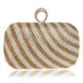 Chegada nova Faixa de Design Mulheres Bolsa Dia Embreagens Sacos de Noite Dedo Anéis de Diamantes Sacos de Um Lado Bolsas de Senhora Para O Casamento