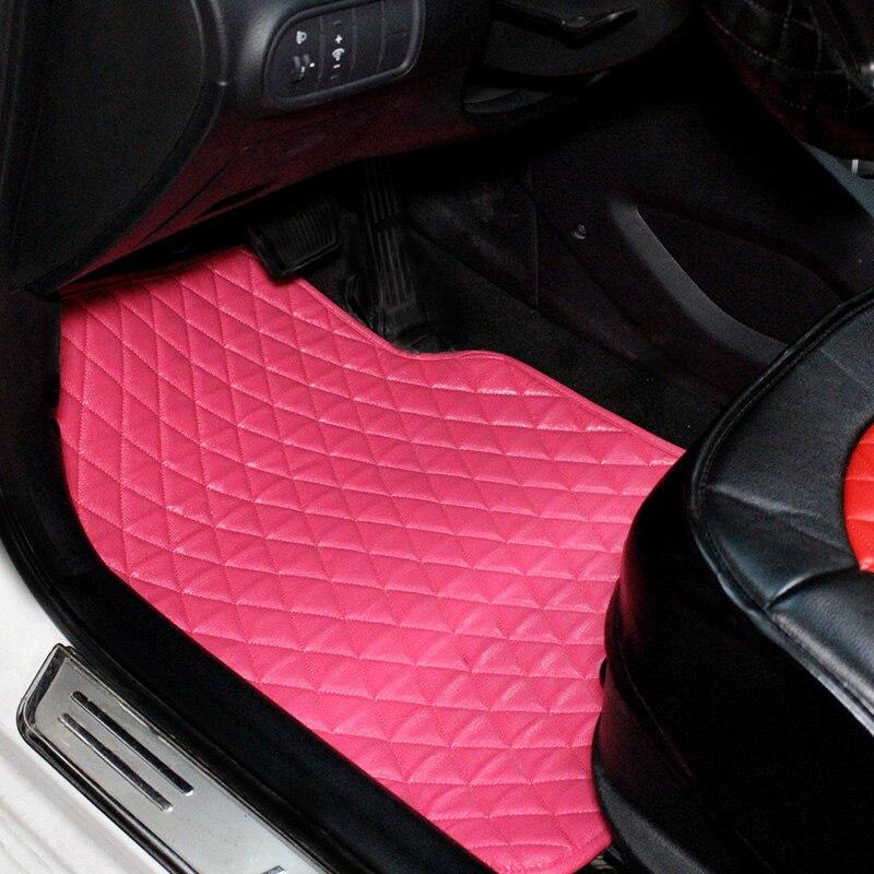 fashion foot mats leather anti slip car floor mats girls women universal car floor mats diamond