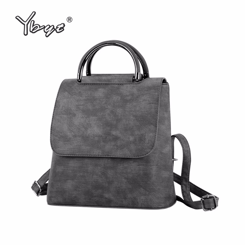 Ybyt Brand New Pu Leather Women Rucksack Multipurpose Satchel Female Shopping Shoulder Bags Ladies Casual Travel Backpacks