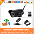 1.0mp Hd 720 P Wi-Fi Пуля Ip-камеры Открытый Водонепроницаемый Motion Detection With 32 г Card Power Metal Black Freeshipping горячие Продажи