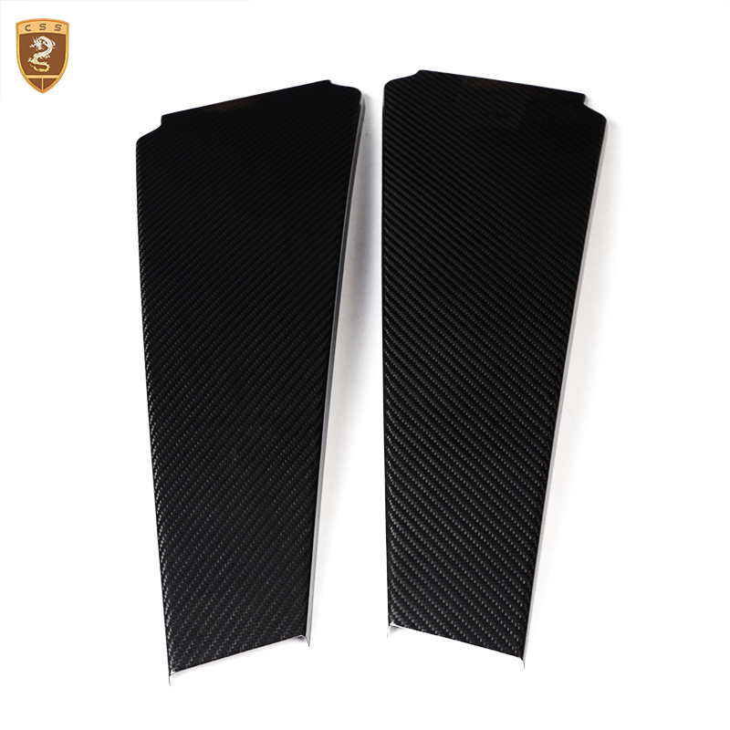 Carbon Fiber Column Frame C Pillar For Maserati Quattroporte Ghibli 2013 14 15 16 17 18 Carbon Fiber Column Trims Car Styling|Styling Mouldings| |  - title=