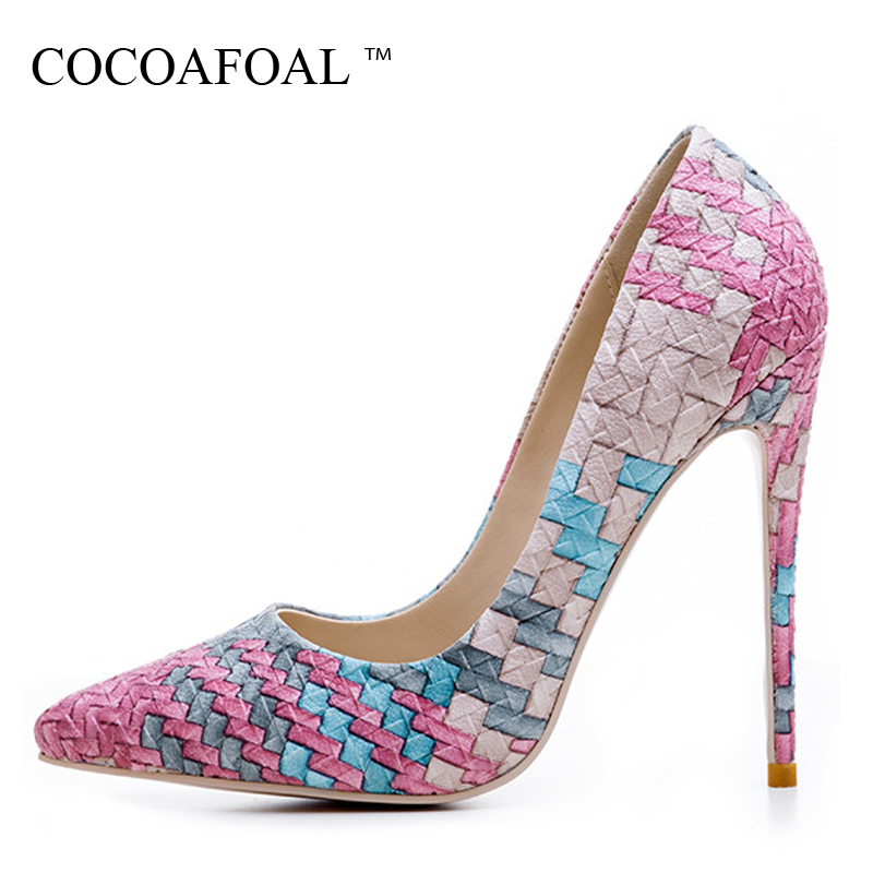 COCOAFOAL Stiletto Woman Sexy Pumps Plus Size 33 - 43 Party Red Wedding Pumps Pointed Toe Fashion Ultra High Heels Shoes 2018 doratasia 2018 plus size 32 43 crystal fashion brand shoes women sexy high heels pointed toe party wedding mules pumps woman
