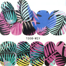 HOT SELL Colorful Leaves Fashion Women 1Pcs Natural Color French False Nail Tips Artificial Fake Nails Art Acrylic Manicure Tool(China)