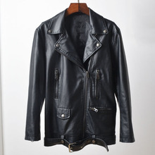 Big and Tall Women Motorcycle Jackets and Coats For Sale Lady Female Bape Soft Biker Shoulder Leather Jackets Overcoats New C793