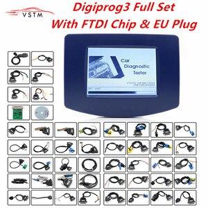 Image 1 - FTDI Digiprog3 Vollen satz Digiprog 3 V4.94 entfernungsmesser programmierer DigiprogIII Laufleistung Richtige Werkzeug Leistungsstarke Für Die Meisten Autos DHL Freies