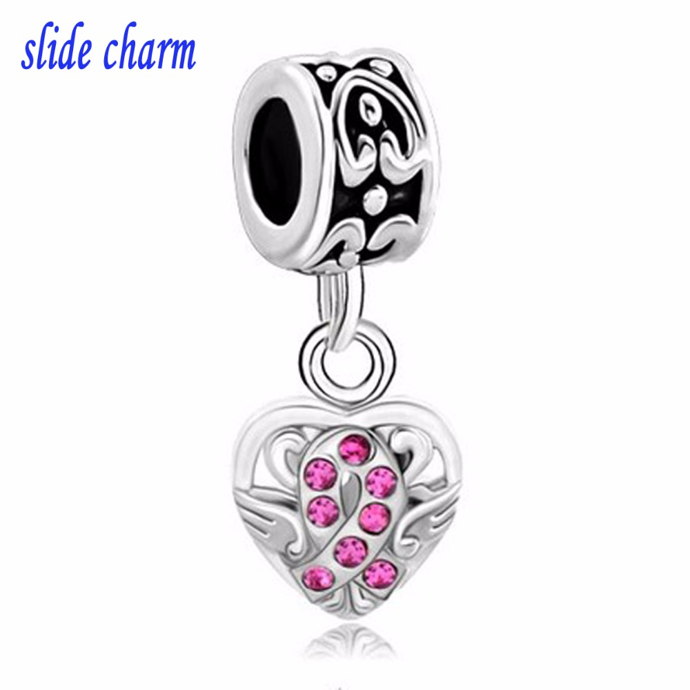 Cancer Warrior Stainless Steel Charms BFS1312 Quantity Options