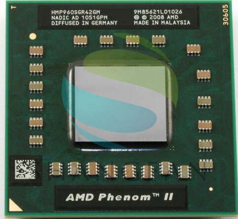 AMD Phenom CPU Quad core P960 HMP960SGR42GM CPU 1.8G clocked 2M Soquete S1 Notebook CPU