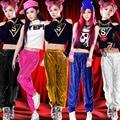 Nueva mujer hip-hop danza moderna danza jazz trajes de baile de lentejuelas etapa rendimiento ropa ropa de mujer de moda