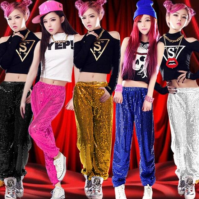 99cc24fe0 new female hip hop dance modern dance jazz dance costumes sequins ...