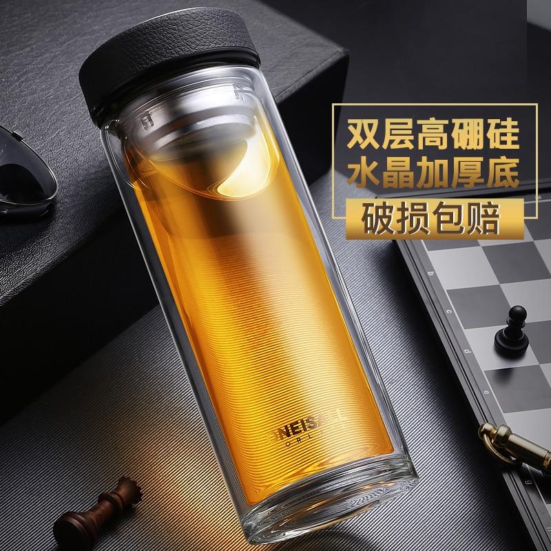 500 ml doppelwandiges glas wasser tee tasse saft kaffeebecher - Küche, Essen und Bar - Foto 5