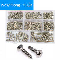 Phillips Flat Head Self Tapping Screw Cross Recessed Thread Metric Countersunk Bolts Assortment Kit 304Stainless Steel #6 #8 #10