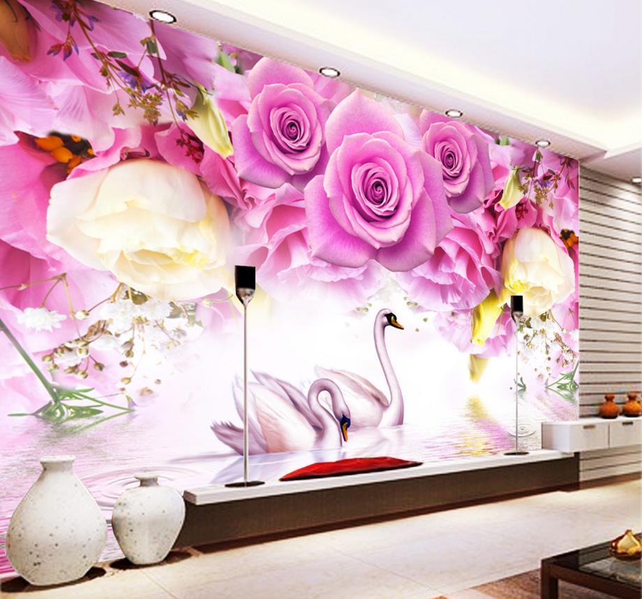 Modern Fashion 3D Murals Wallpaper For Living Room Custom