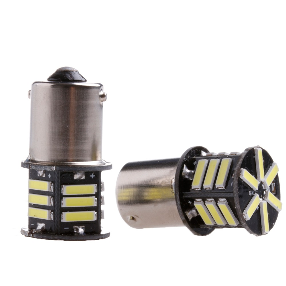 2x Canbus No Error White LED Tail Backup Reverse Light Bulb BA15S 1156 7506 P21W boaosi 1x canbus 1156 led reverse light p21w 2835smd car led error free backup light reverse light bulb for bmw e30 e36 e46 f30