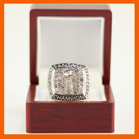 2017 SILVER COLOR FANTASY FOOTBALL FFL GLORY CHAMPIONSHIP RING SOUVENIR SPORT RINGS US SIZE 8 9