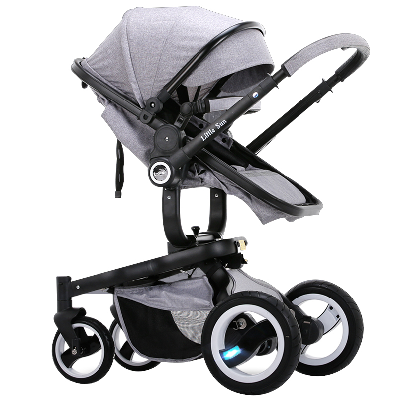 Small sun baby car baby child trolley two-way light folding baby stroller 4 6kg baby sleeping 180 degree light folding portable ultra light baby car umbrella two way summer child trolley baby stroller