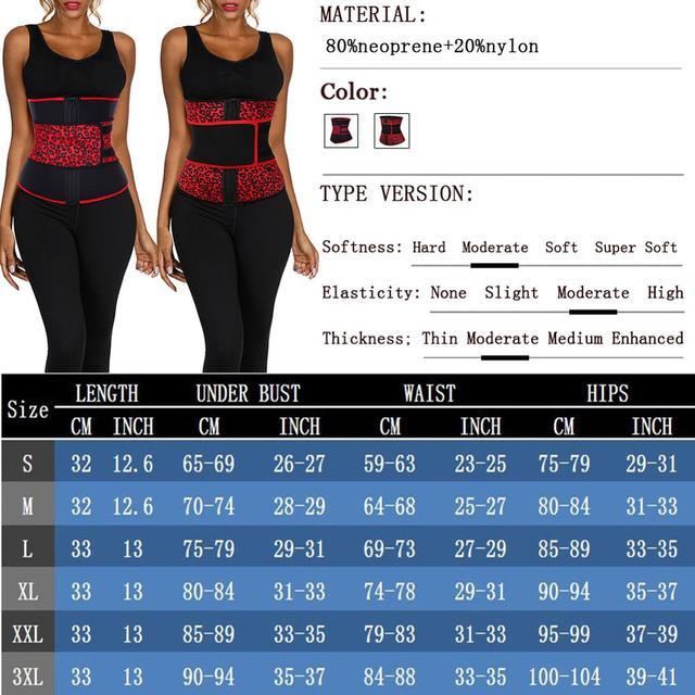 FeelinGirl Neoprene Waist Trainer Girdles 7 Steel Bones Sweat Sauna Body Shapers Slimming Corset Fitness Modeling Belt Faja 5