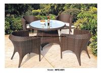 Small Round Ourdoor Garden Table Chair Set Holiday Beach Swing Pool Gardern Rattan Furniture 80CM Table