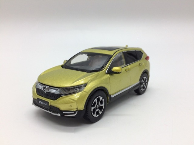 1 43 miniature pour honda cr v 2017 jaune suv alliage for Ford edge vs honda crv