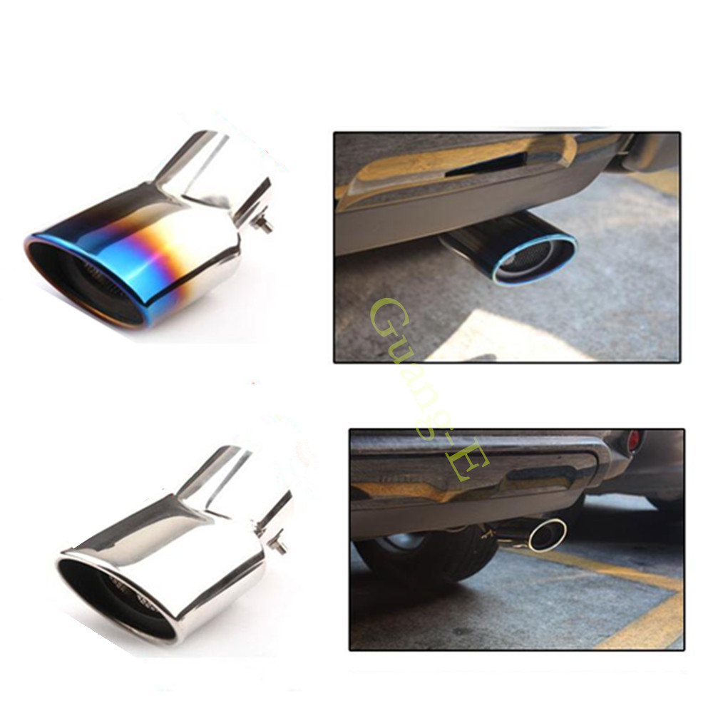 CHROME EXHAUST TAILPIPE TRIM TIP END MUFFLER FINISHER MITSUBISHI EVO EVOLUTION