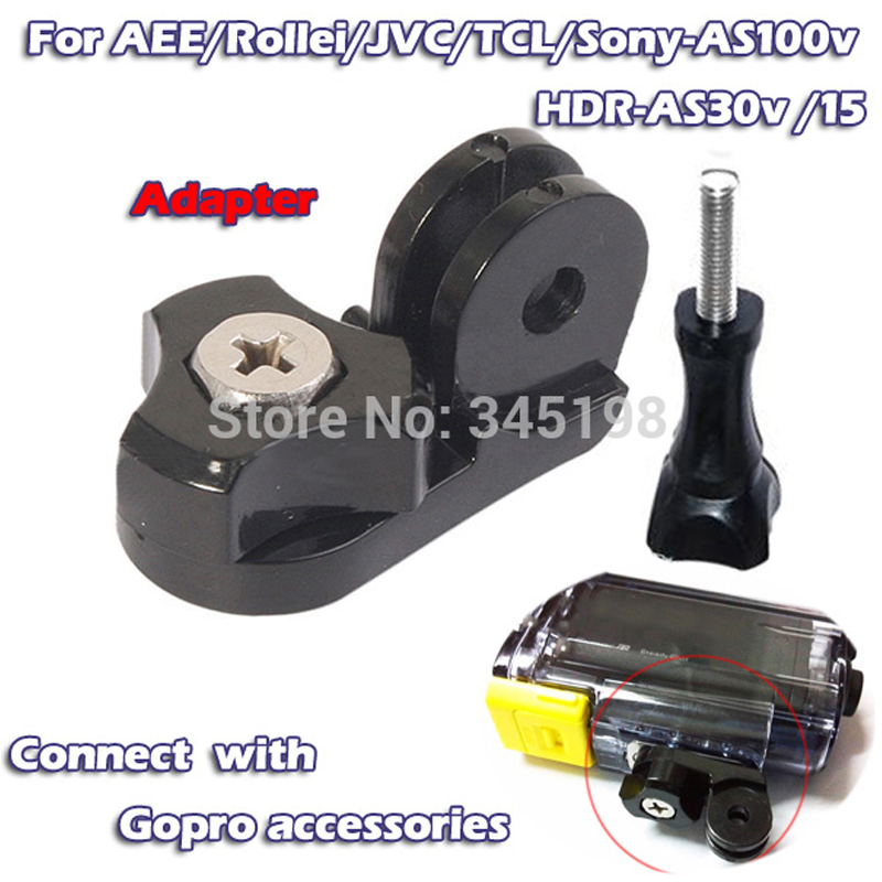 GO PRO Connector Tripod Mount Adapter for Gopro SJCAM AEE <font><b>accessory</b></font> for <font><b>Sony</b></font> HDR-AS100V <font><b>AS30V</b></font> Rollei action camera +screw image