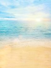 Sol Praia Céu azul Nuvens backdrops Vinil Fundos Computador impresso recém-nascidos de pano de Alta qualidade