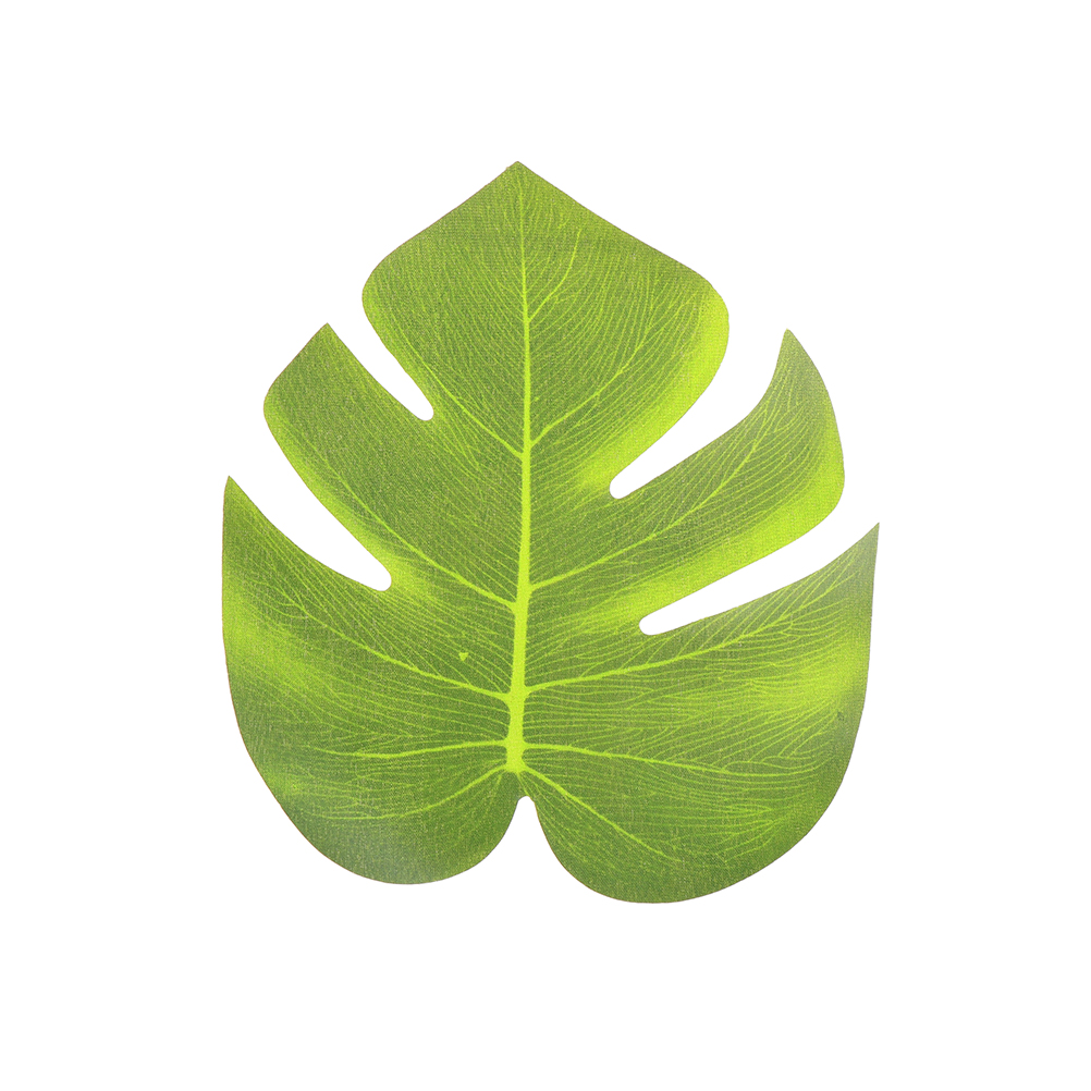 12pcs 20x18cm Artificial Tropical Palm Leaves Simulation Leaf For ...