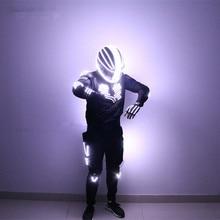 New Arrived LED Robot Costume Light / Dance Performance Light/Luminous Clothing /LED Suits for Men Women DJ Show