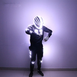 New Arrived LED Robot Costume Light / Dance Performance Light/Luminous Clothing /LED Suits for Men Women DJ Show Light Clothing