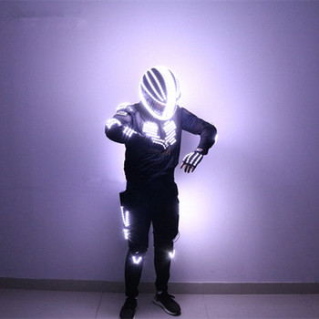 New Arrived LED Robot Costume Light / Dance Performance Light/Luminous Clothing /LED Suits for Men Women DJ Show Light Clothing led costume led clothing light suits led robot suits kryoman robot david guetta robot size color customized