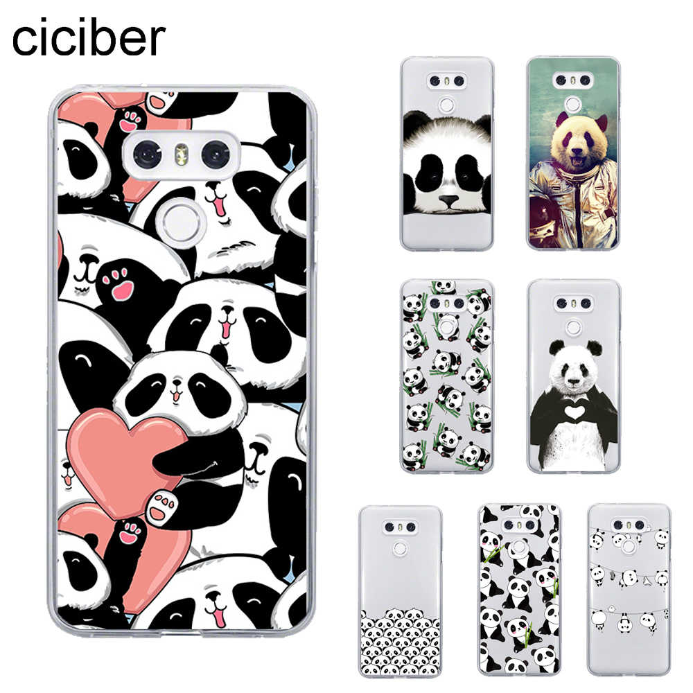 ciciber Pandas Cover For LG G6 G7 G5 G4 V30 V35 V40 THINQ TPU For LG K10 K8 K7 K4 2017 2018 K9 K11 Plus Phone Cases Soft TPU
