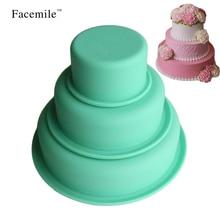 3 шт. антипригарные круглые силиконовые формы для выпечки набор посуды сковороды посудомоечная машина и формы для холодильника для торта/пирогов/хлеба/мороженого