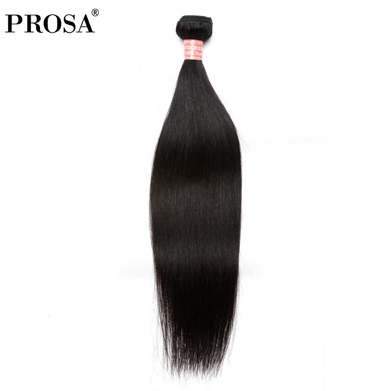Straight Indian Hair Weave Bundles Remy Human Hair Extensions One Piece Human Hair Weaving For Women Natual Color Prosa