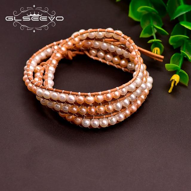Фото женский кожаный браслет glseevo вечерние кожаные браслеты белого