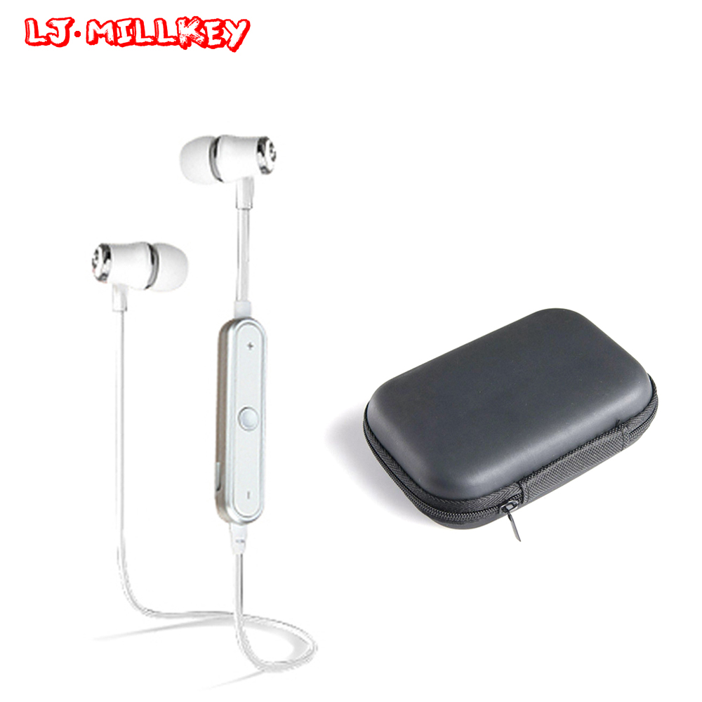 S6 Stereo Bluetooth Earphone With Mic Wireless Earbuds Sports Running Bluetooth Headsets For Phone LJ-MILLKEY SNH001 high quality laptops bluetooth earphone for msi gs60 2qd ghost pro 4k notebooks wireless earbuds headsets with mic