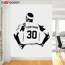 Personalized Name And Number Basketball Decal Play Vinyl Wall Sticker Home Deocr For Boys Room Sport Teens Bedroom Custom 3Y28