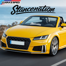 Car Front Rear Windshield Sticker 40cm Stancenation Decals Customized Letters Auto Window Decor Waterproof