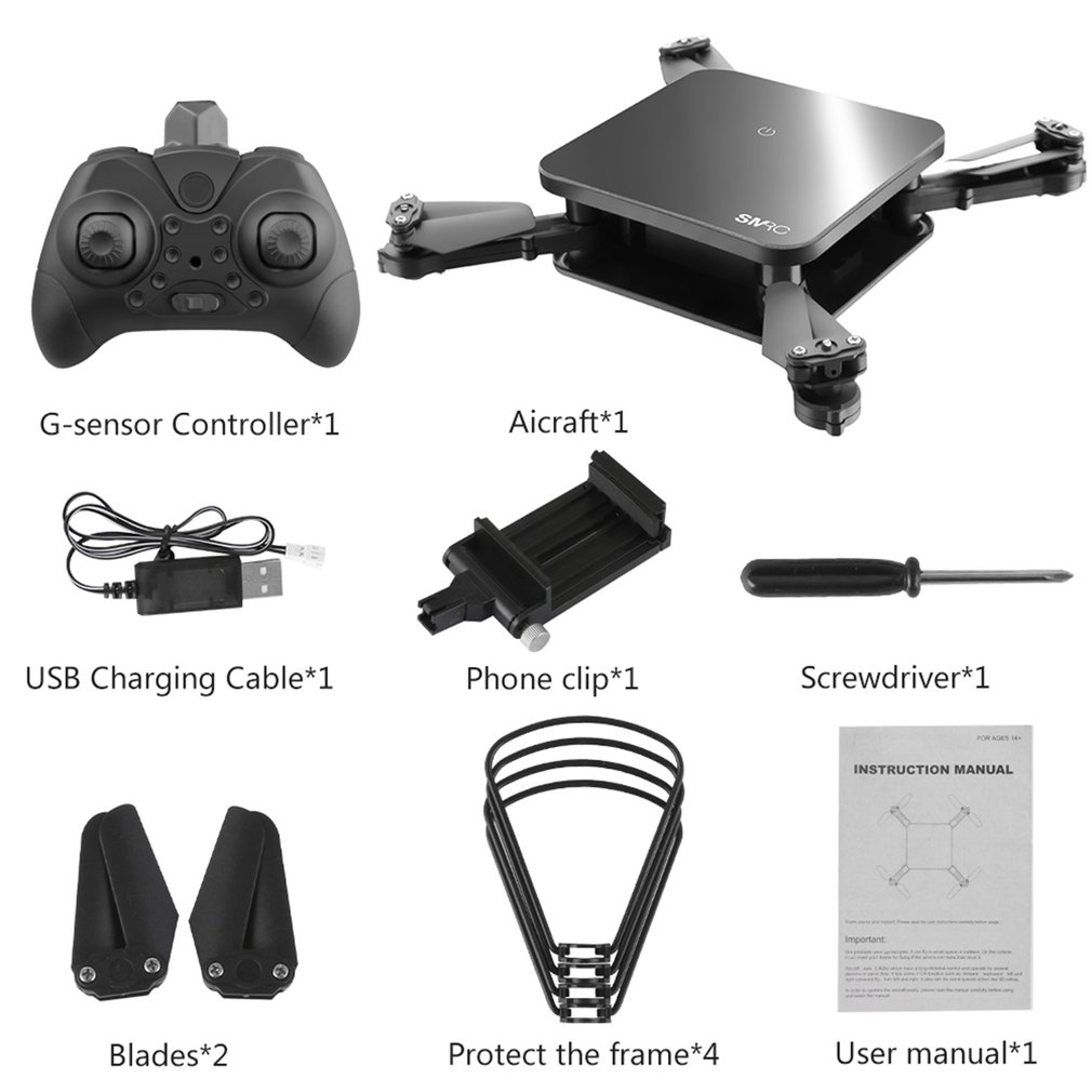 SMRC S1 mini rc drone with hd wifi camera pocket Selfie 2.0MP WiFi FPV Real Time Folding Helicopter for Chrismas toy boy gift HO