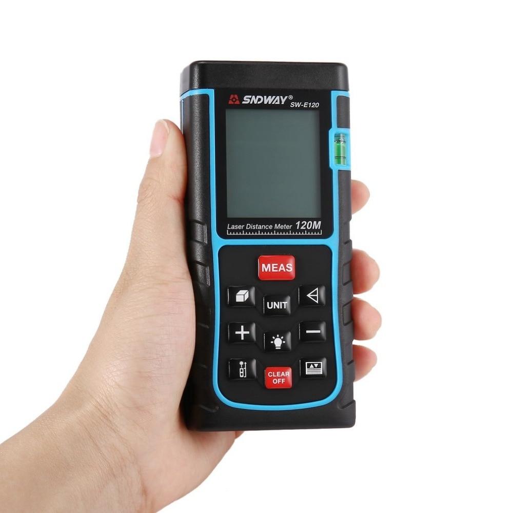 SNDWAY SW-E150 150M Handheld Laser Distance Meter Range Finder Trena Laser Rangefinder Laser Tape Measure Distance Tool sw p70 sndway handheld laser distance meter 0 02 70m golf range finder