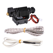 3D Printer Parts 3D V6 Hotend 1.75MM All Metal J-head Remote Extruder Kit with 12V 24V Heater 1M 2M HT-NTC100K Thermister 0.4MM стоимость