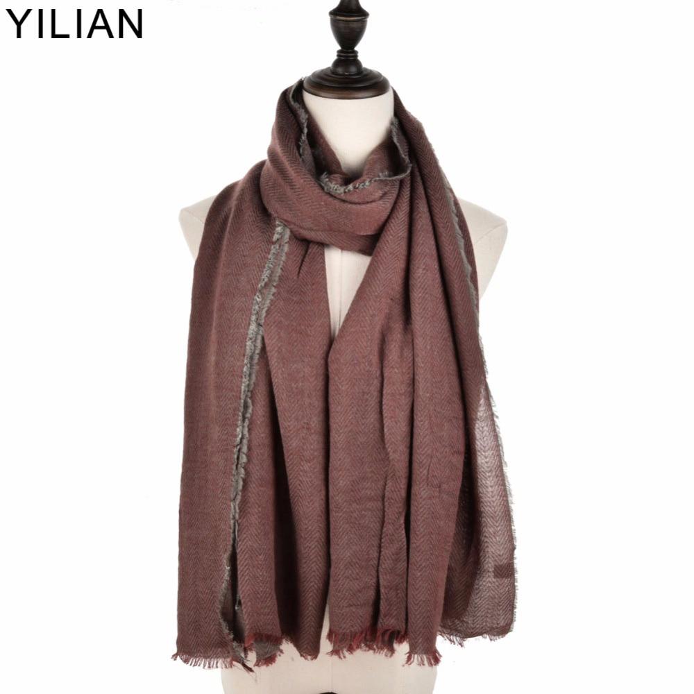 YILIAN-merkki talvi naisten huivi geometrinen muoti pitkä lämmin - Vaatetustarvikkeet - Valokuva 1