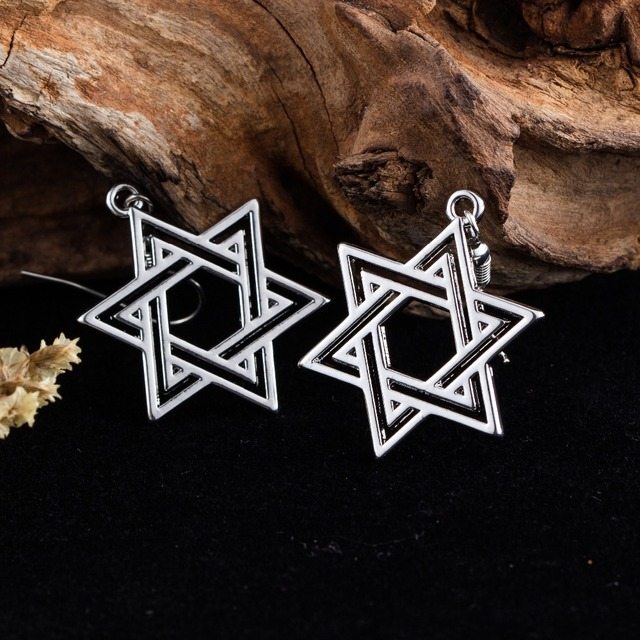 Women's Earrings with Star of David